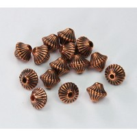 6mm Bicone Metalized Plastic Beads, Antique Copper
