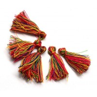 30mm Cotton Tassel Charms, Festival Mix, Pack of 10