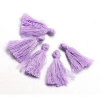 30mm Cotton Tassel Charms, Lilac Purple