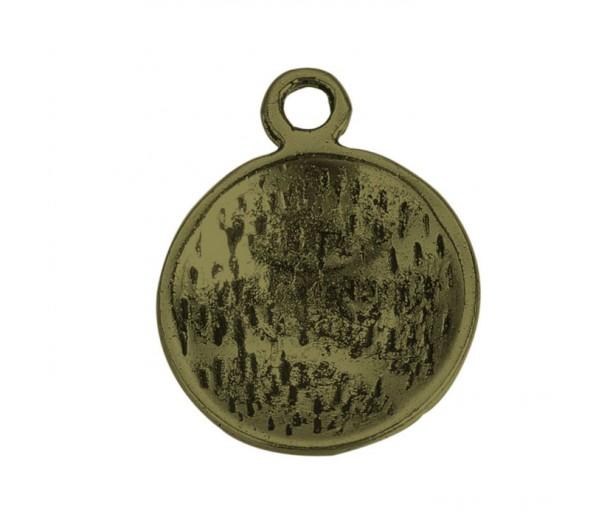18mm Medium Baseball Charms, Antique Brass, Pack of 5