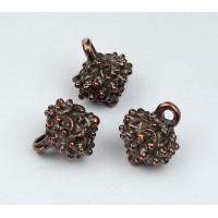 17x14mm Ornate Drop, Bronze, 1 Piece
