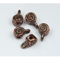 8mm Spiral Slider Bail, Bronze