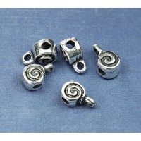 8mm Spiral Slider Bail, Pewter, Pack of 4