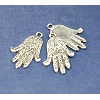 25x18mm Hamsa Hand Charms, Pewter, Pack of 2