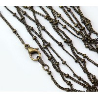 18 Inch Finished Satellite Chain, Antique Brass