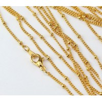 18 Inch Finished Satellite Chain, Gold Plated