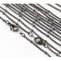 18 Inch Finished Satellite Chain, Gunmetal