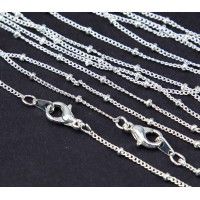 18 Inch Finished Satellite Chain, Silver Plated