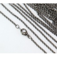 18 Inch Finished Rolo Chain, Gunmetal