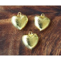 18mm Heart Stardust Charm, Gold Tone, 1 Piece
