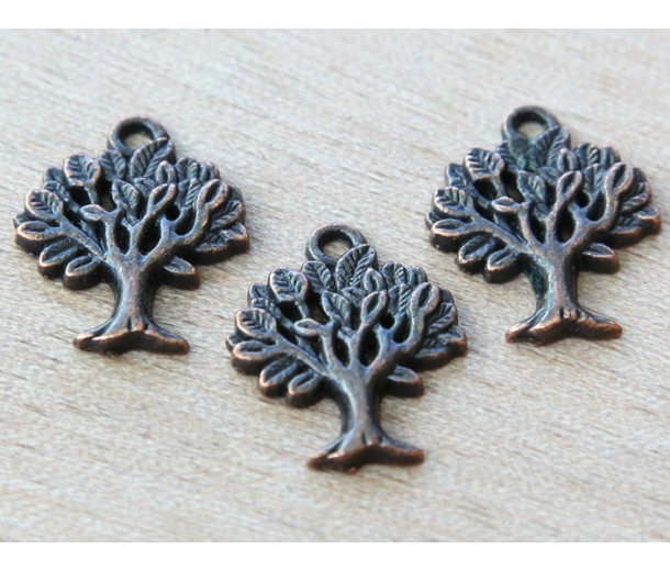 21x16mm Tree of Life Charms, Antique Copper
