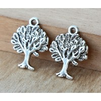 21x16mm Tree of Life Charms, Antique Silver