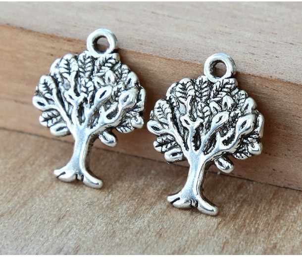 21x16mm Tree of Life Charms, Antique Silver, Pack of 8