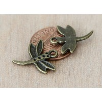 20x18mm Dragonfly Charms, Antique Brass, Pack of 8
