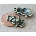 21x12mm Puff Owl Charms, Antique Brass, Pack of 10
