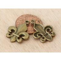 22x17mm Thick Fleur-de-Lis Charms, Antique Brass, Pack of 8