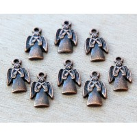 18x10mm Angel Charms, Antique Copper, Pack of 10