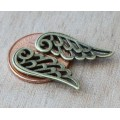 25mm Angel Wing Charms, Antique Brass, Pack of 10