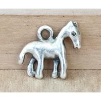 16x18mm Primitive Horse Charms, Antique Silver