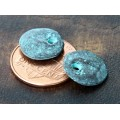 12mm Cornflake Disk Charms, Green Patina, Pack of 6
