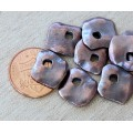 15mm Diamond Shaped Rustic Charms, Bronze Plated, Pack of 6