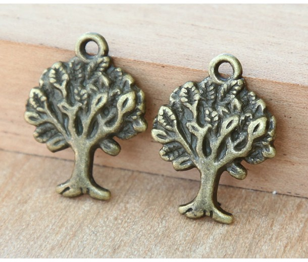 21x16mm Tree of Life Charms, Antique Brass, Pack of 8