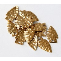19mm Arrowhead Charms, Gold Tone