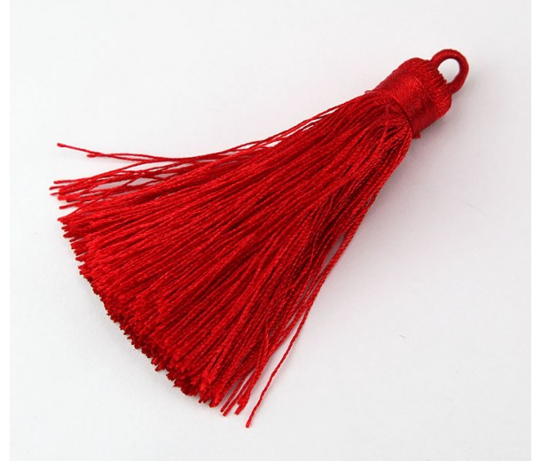 70mm Nylon Tassel Pendant, Red