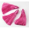 70mm Nylon Tassel Pendant, Pink