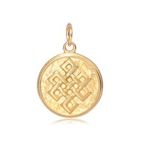 -20mm Stainless Steel Celtic Knot Charm, Gold Tone