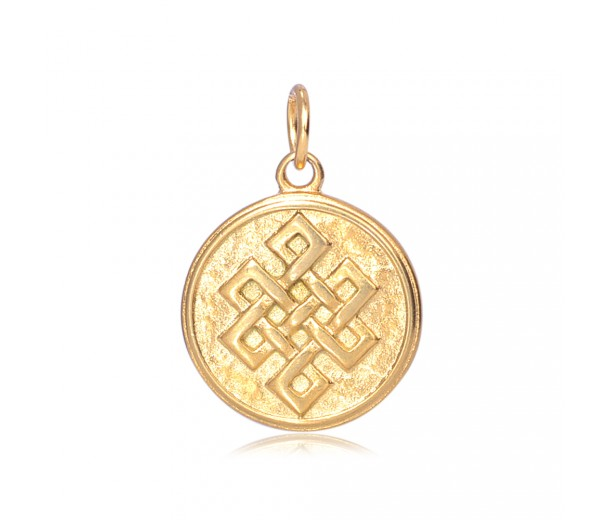 20mm Stainless Steel Celtic Knot Charm, Gold Tone