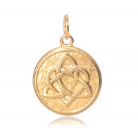 20mm Stainless Steel Celtic Heart Charm, Gold Tone