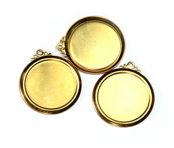22mm Circle Stamping Blank, Brass