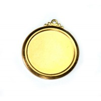 22mm Circle Stamping Blank, Brass, 1 Piece
