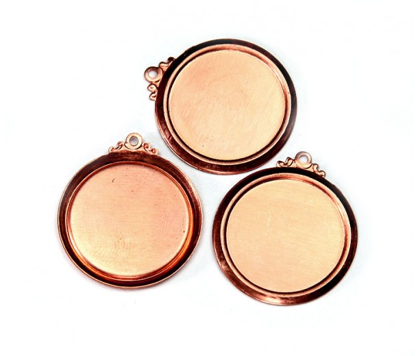 22mm Circle Stamping Blank, Copper