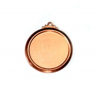 22mm Circle Stamping Blank, Copper, 1 Piece