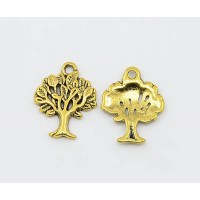 21x16mm Tree of Life Charms, Antique Gold, Pack of 8