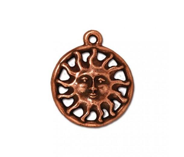 19mm Sunshine Charm by TierraCast, Antique Copper