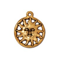 19mm Sunshine Charm by TierraCast, Antique Gold