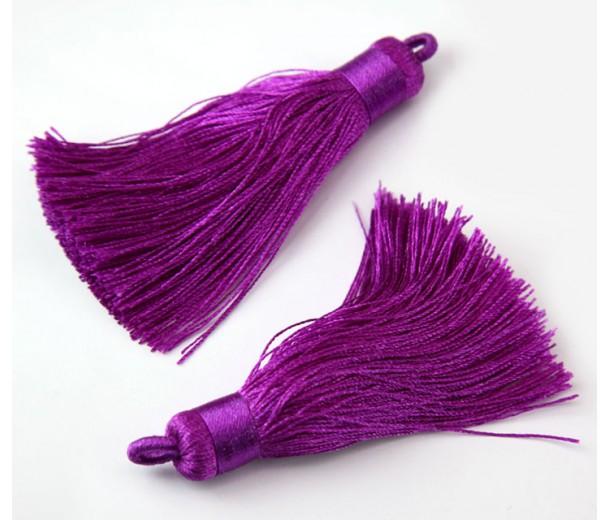 70mm Nylon Tassel Pendant, Magenta