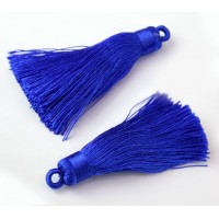 70mm Nylon Tassel Pendant, Blue