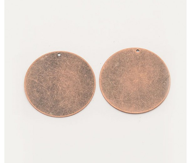 34mm Round Stamping Blank, Antique Copper