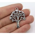 33mm Love Tree Pendant, Antique Silver, 1 Piece