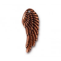 28mm Wing Charm by TierraCast, Antique Copper