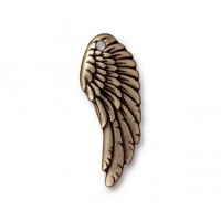 28mm Wing Charm by TierraCast, Antique Brass