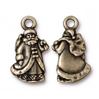 22mm Santa Claus Charm by TierraCast, Antique Brass, 1 Piece