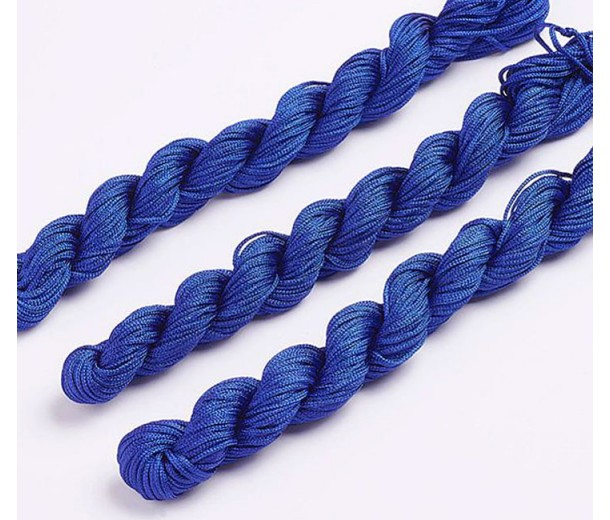 1mm Chinese Knotting Cord, Cobalt Blue, 24 Meter Bundle