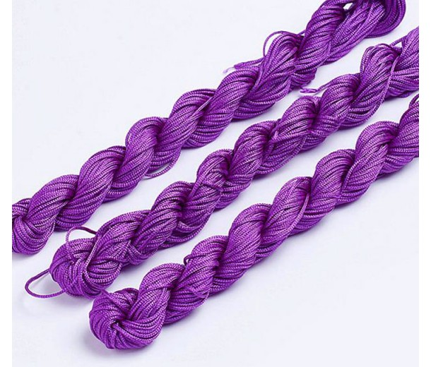 1mm Chinese Knotting Cord, Orchid Purple, 24 Meter Bundle