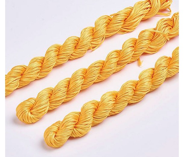 1mm Chinese Knotting Cord, Honey Yellow, 24 Meter Bundle