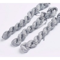 1mm Chinese Knotting Cord, Mouse Grey, 24 Meter Bundle
